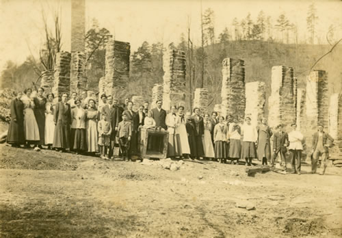 Group after the fire