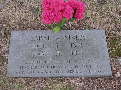 Sarah Staley's headstone