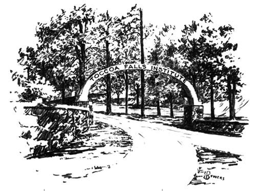 Toccoa Falls Sign