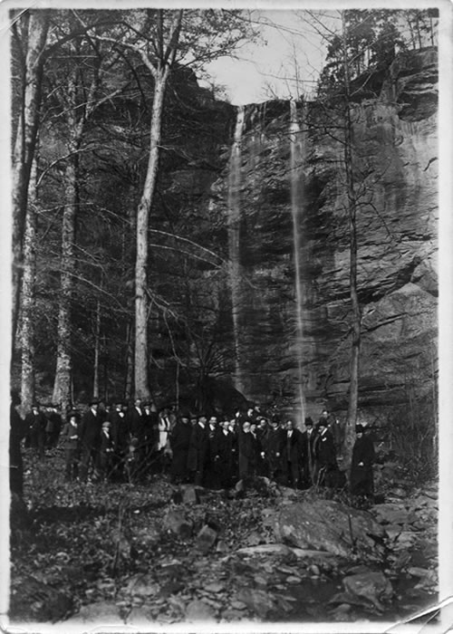 Billy Sunday and group at Toccoa Falls