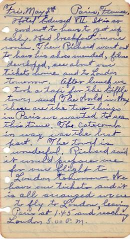 Diary entry May 2, 1930
