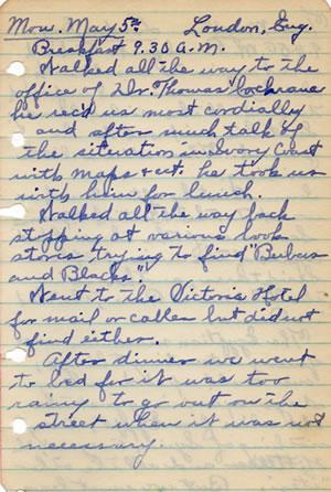 Diary May 5, 1930