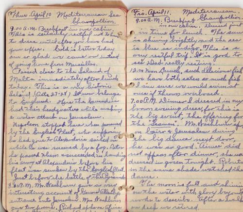Diary April 10 & 11, 1930