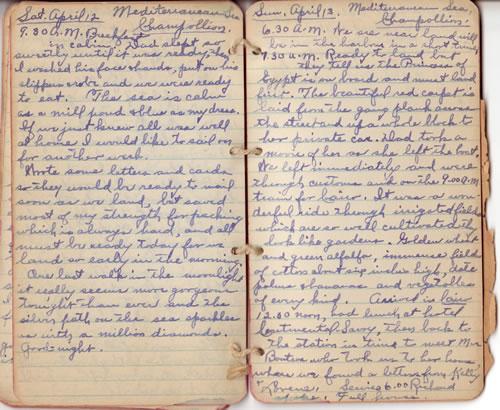 Diary April 12 & 13, 1930