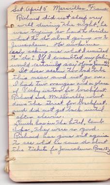 Diary April 5, 1930