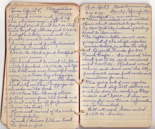 Diary April 8 & 9, 1930