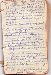 Diary February 11, 1930
