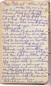 February 28, 1930 diary entry