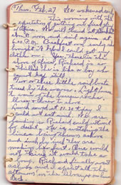 Diary February 27, 1930