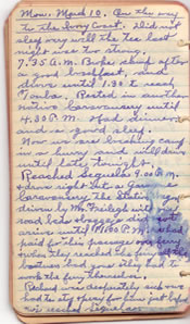 Diary March 10, 1930