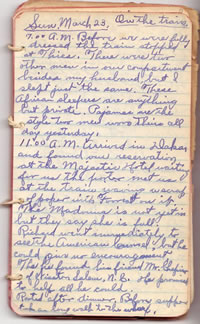 Diary March 23