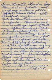 May 4, 1930 diary entry
