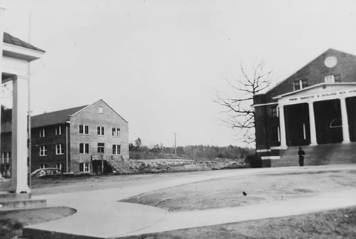 Earl Hall without a porch