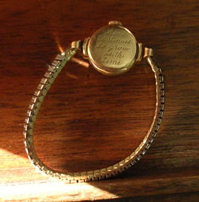 Evelyn's watch with inscription