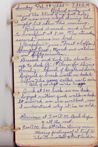 February 9, 1930 diary entry