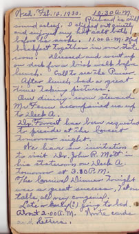 Feb. 12 diary entry
