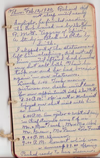 Feb. 13 diary entry