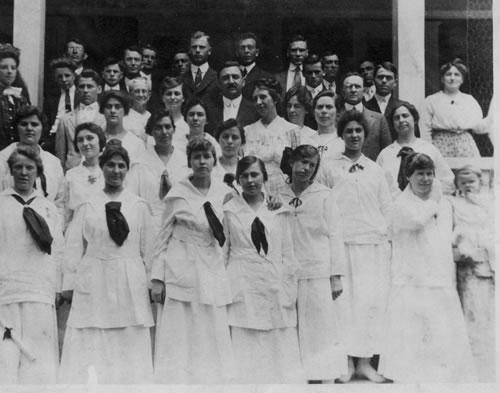1917-1918 students