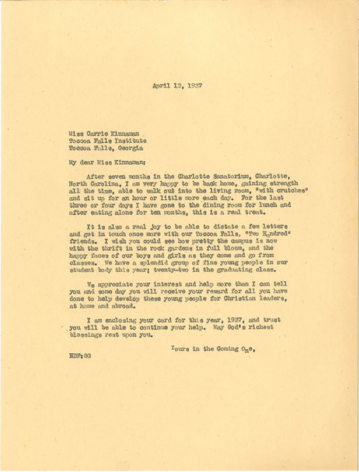 letter dated April 12, 1937