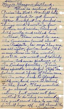 May 10, 1930 Diary Entry