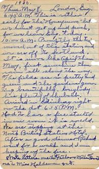 May 8, 1930 diary entry