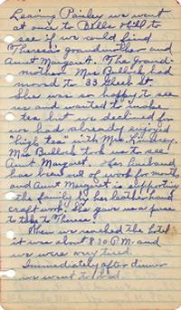 May 9, 1930 diary entry