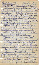 May 7, 1930 Diary entry