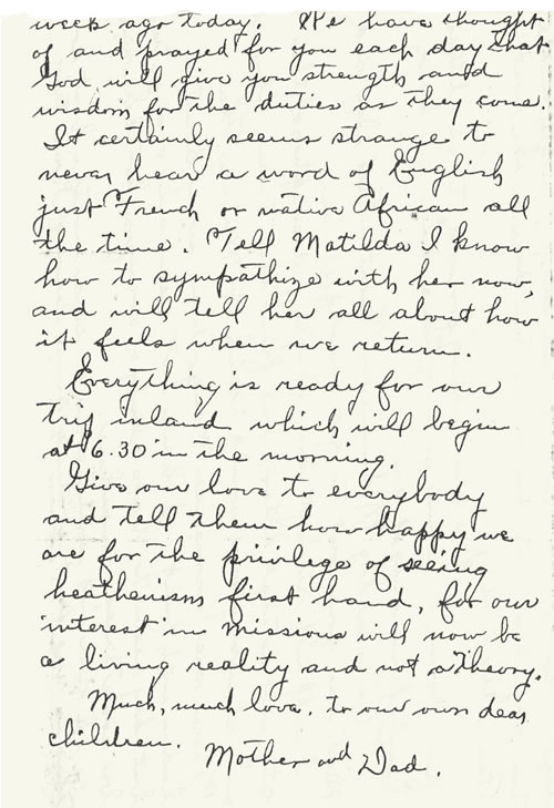 Letter to Kelly and Alice Barnes