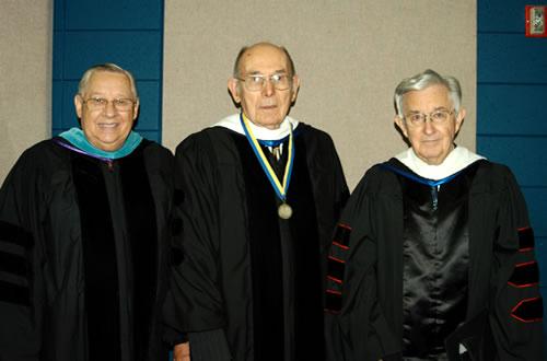 Professors David Harvey, Clarence Wulf, and Jon Tal Murphree